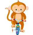 monkey circus vector image vector image