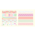 masking tape cute set vector image