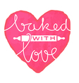 baked with love vector image