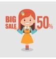 Big discounts seasonal sale banner vector image