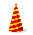 Bright festive party hat vector image