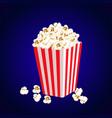 carton bowl full of popcorn vector image