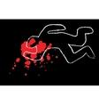 classic crime scene vector image
