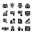 human resource icon vector image