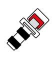 outline seat belt drive safe sign vector image