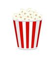 popcorn bucket full of popcorn items vector image