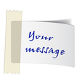 taped white label vector image