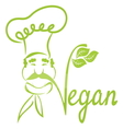 Vegan chef vector image