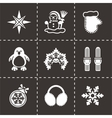 Winter icon set vector image