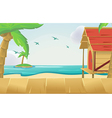 Wood Sea Sky Tropical Background vector image