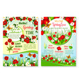 spring holiday sale posters set of flowers vector image