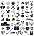 sport equipment icon set vector image