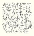 Hand Drawn vintage floral elements vector image