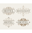 Luxury logo and monogram template set vector image