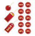 set of gold tags vector image vector image