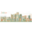 Abstract Incheon Skyline with Color Buildings vector image