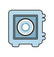 cartoon closed box save money bank vector image