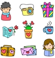 Doodle object love theme vector image