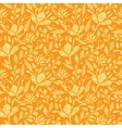 Golden floral embroidery seamless pattern vector image
