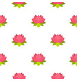 pink lotus flower pattern seamless vector image