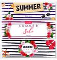 set of summer sale banner design vector image
