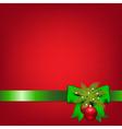 Xmas Green Ribbons With Fir Tree And Ball vector image