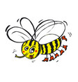 flying funny bee vector image