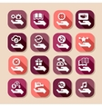 hand concept long shadows icons vector image