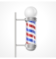 baber shop pole vector image vector image