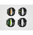 Set of the smart fitness watches vector image