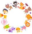 AnimalsCir vector image