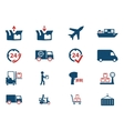 Delivery simply icons vector image