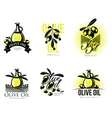 Logo Set about olive oil vector image