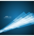 Abstract background with waves and luminous rays vector image