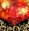 Christmas floral ornamental decoration for design vector image