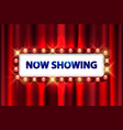 cinema movie poster design theater sign or cinema vector image
