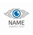Cyber eye logo vector image
