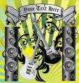 loudspeaker grunge background vector image