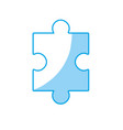 silhouette puzzle element to game and teamwork vector image