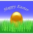 Spring Easter Card Gold Egg vector image