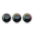 Temperature gauge digital set icon vector image