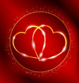 valentines golden hearts vector image