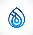 waterdrop line abstract logo vector image