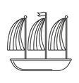 ship sailboat maritime icon vector image
