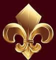 Gold Fleur De Lis symbol vector image vector image