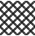 Seamless pattern with diagonal cage vector image vector image