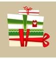 Christmas gift box for holiday vector image
