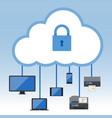 big data cloud computing security concept vector image
