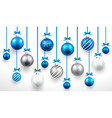 Christmas blue balls vector image vector image