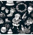 Christmas sketchy pattern vector image vector image